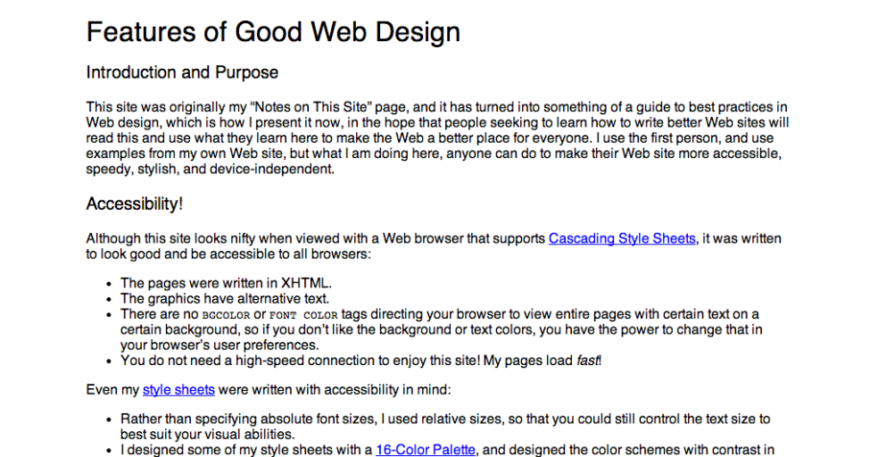 Features of Good Web Design – Daniel Greene