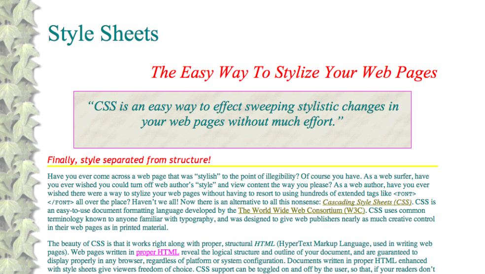 Screenshot of style.html