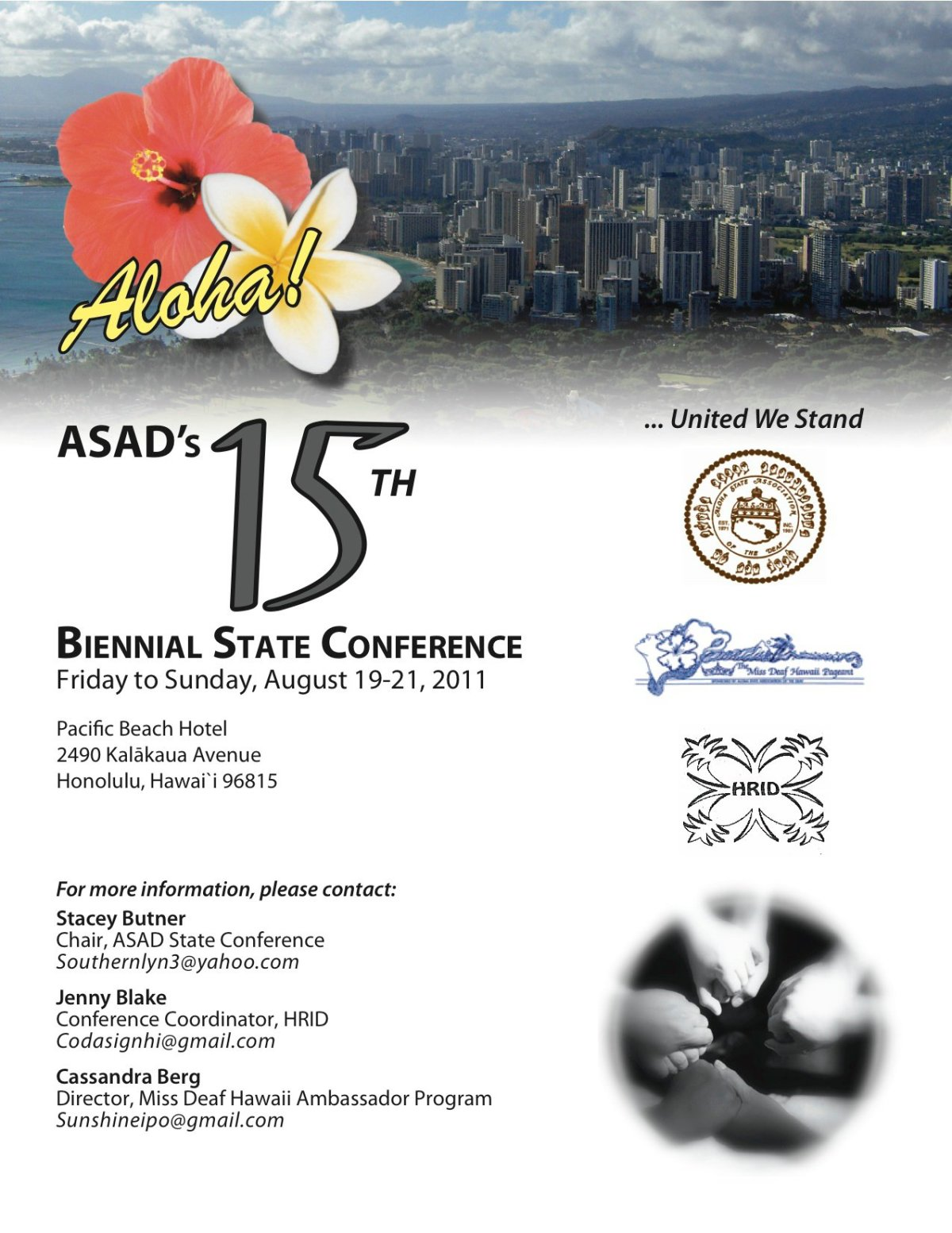 """""""United We State"""" Hawaii State Conference Flier"""