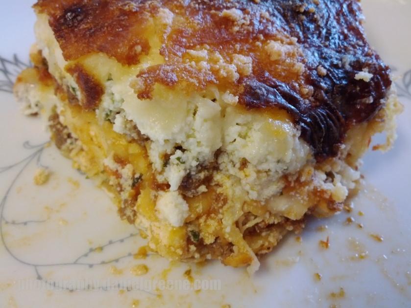 Matzah cracker lasagna