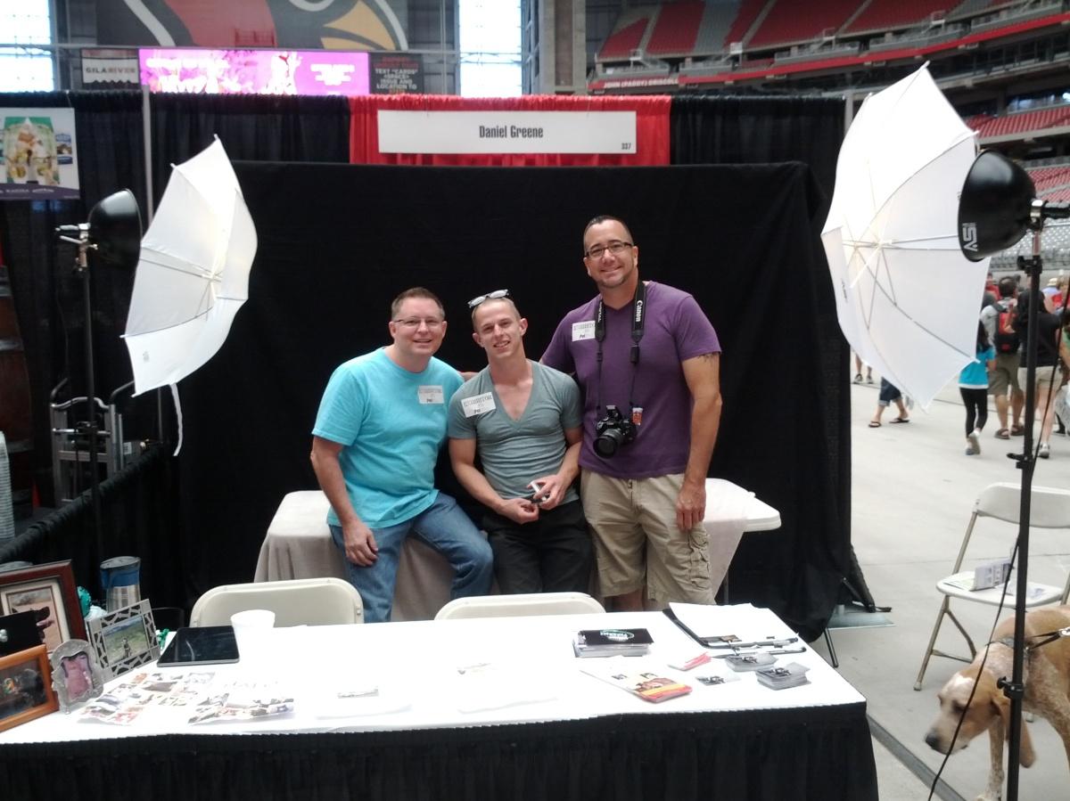 Andy, David, and Sean at Pet Expo photo booth