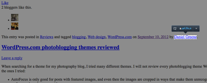 Screenshot courtesy of Josh, a WordPress Happiness Engineer