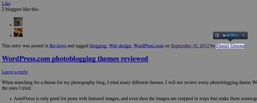 Screenshot courtesy of Josh, a WordPress Happiness Engineer