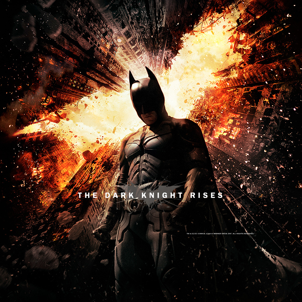 The Dark Knight Rises movie poster © Warner Bros.