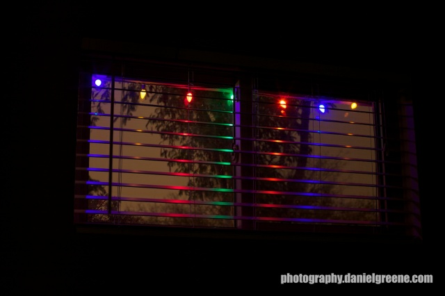 Colored Lights thru Window