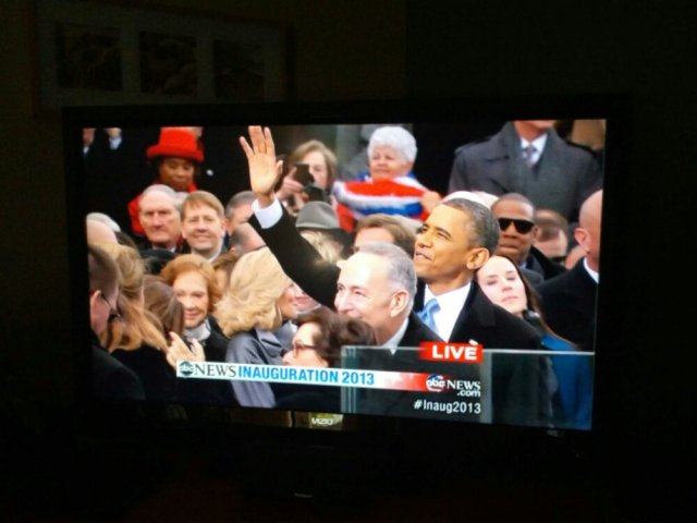 President Obama on TV