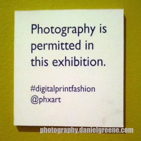 Photography is permitted in this exhibition #digitalprintfashion @phxart