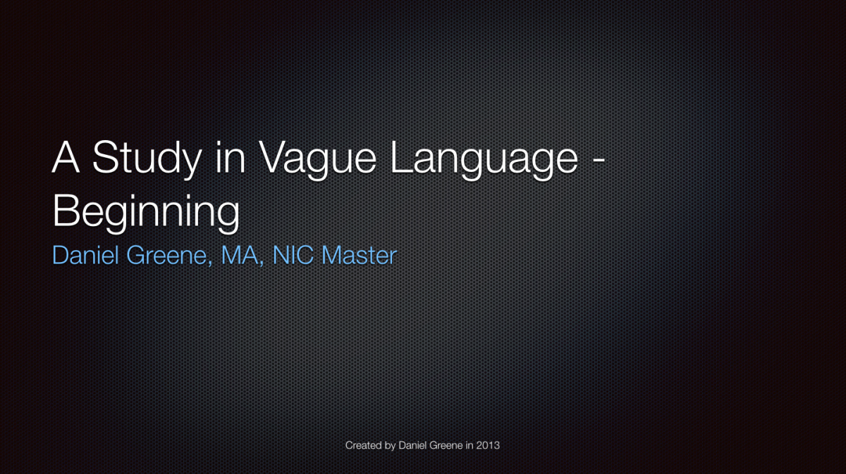 Screenshot - A Study in Vague Language - Beginning
