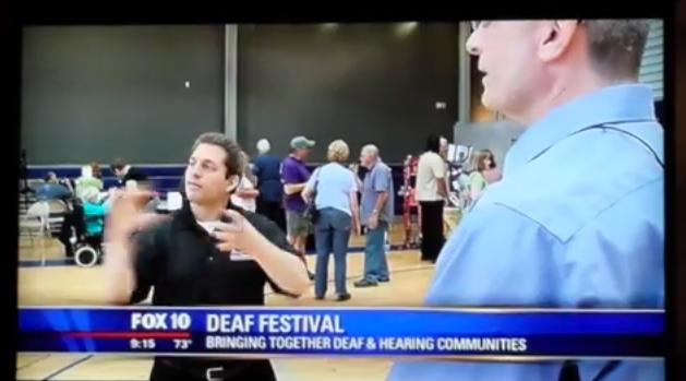 Interpreted Deaf Festival interview