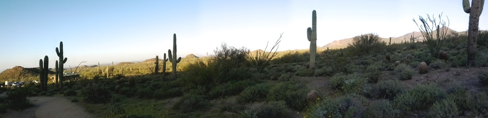 Panorama of Wind Cave Trailhead
