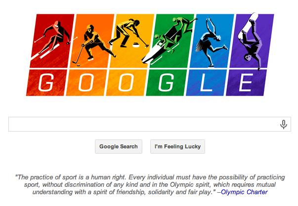 2014 Winter Olympics Google Doodle