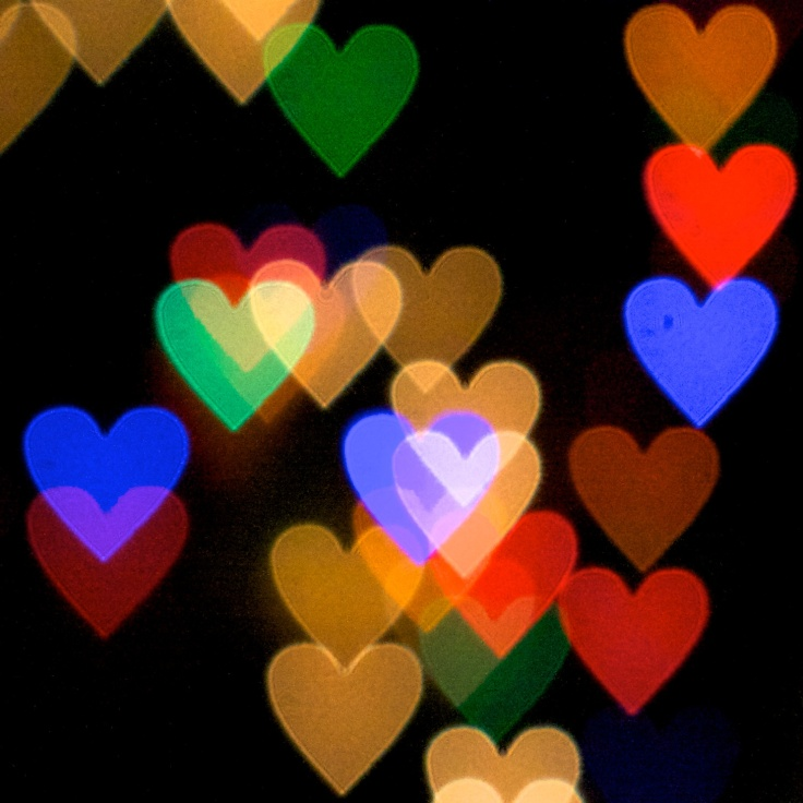 Photo of multi-colored heart shapes