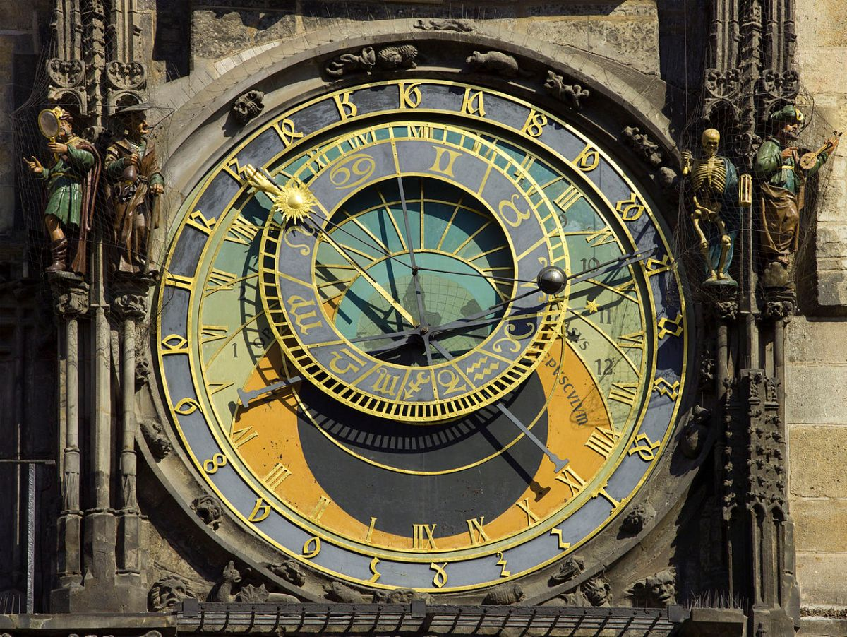 Czech 2013 Prague Astronomical Clock Face by Godot13