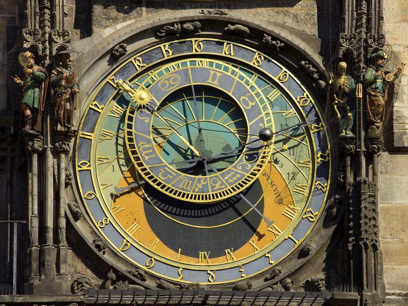 Czech 2013 Prague Astronomical Clock Face by Godot13