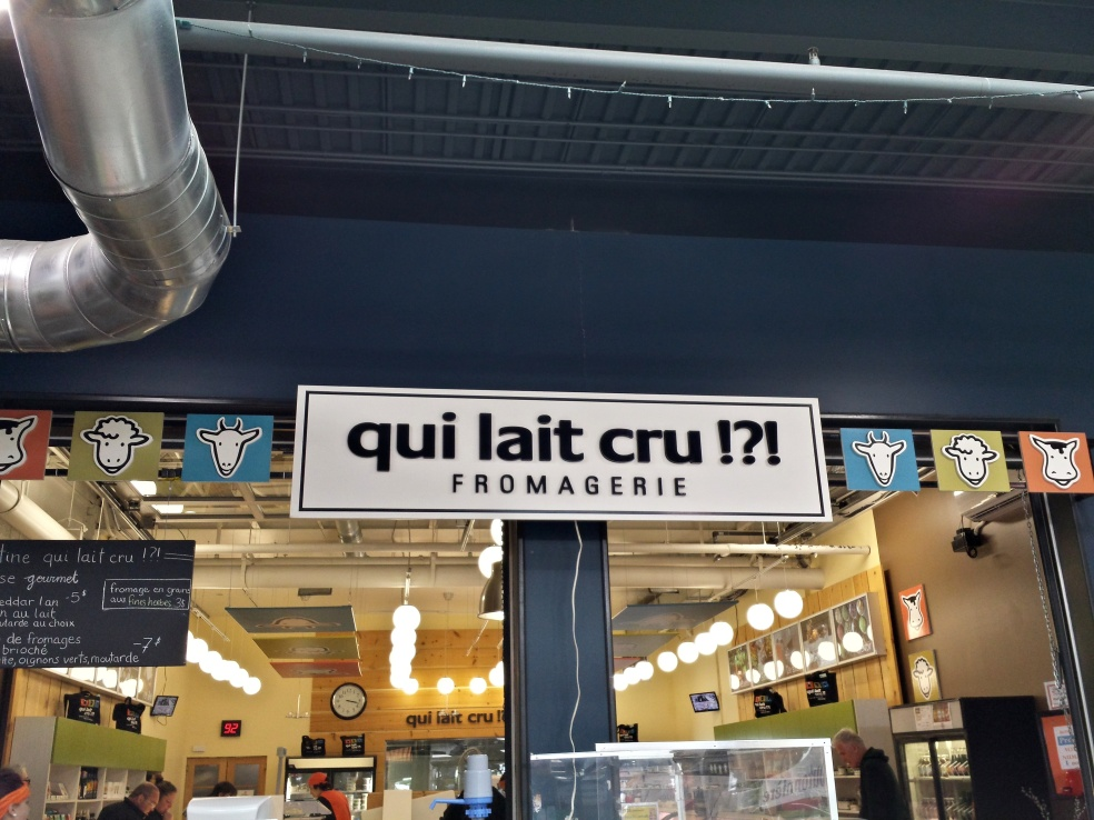 qui lait cru!?! fromagerie - who would've thought!?! cheese store
