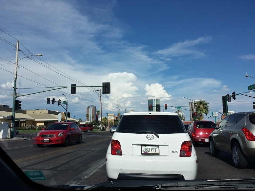 cars and clouds