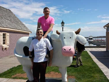 Andy & me at Cow Ice Cream, Charlottetown, Prince Edward Island