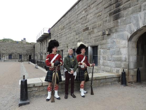 Me with reenactment guards, Halifax, Nova Scotia