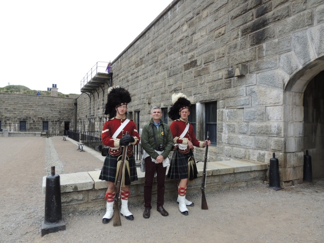 Me with reenactment guards, Halifax, Nova Scotia
