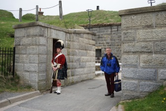 Andy with reenactment guard, Halifax, Nova Scotia
