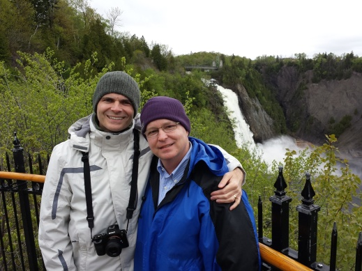 Andy & me at Montmorency Falls (1 of 2)
