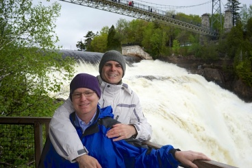 Andy & me at Montmorency Falls (2 of 2)