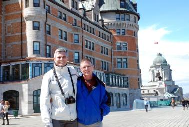 Andy & me in front of le Château Frontenac, Ville de Québec