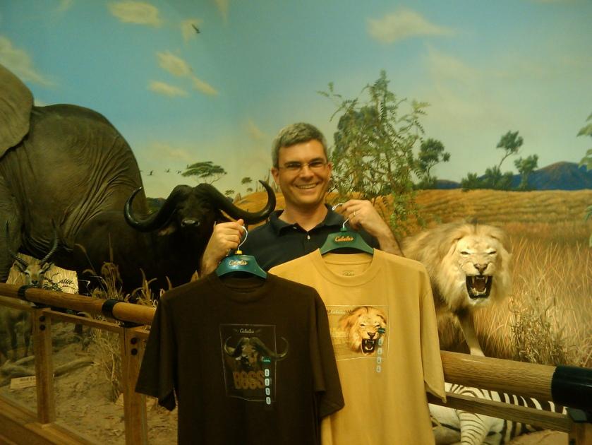 My photos on Cabela's T-shirts!