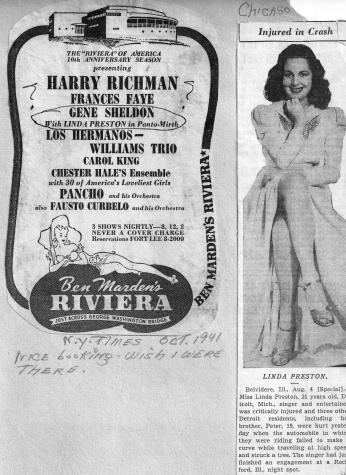 Gene Sheldon with Linda Preston in Panto-Mirth - Ben Marden's Riviera