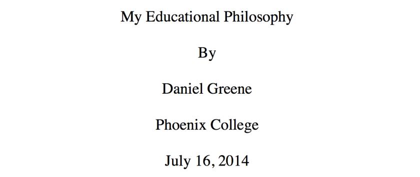 Educational Philosophy Screenshot